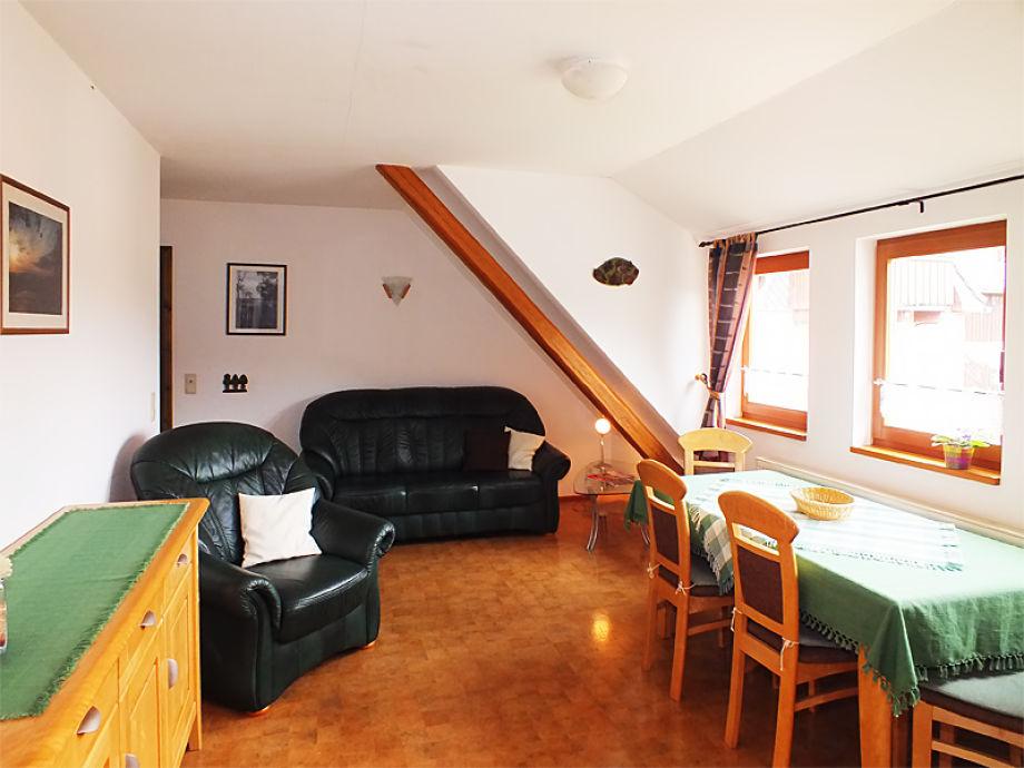 Wohnzimmer - Blick zur Elbe