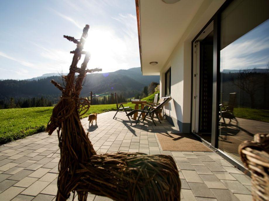 Ihre Terrasse mit Blick auf die Walser Bergwelt