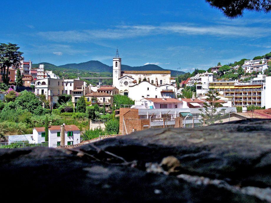 Die Ortschaft Caldetas