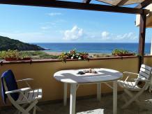 Ferienwohnung Orietta direkt am Meer, Balkon mit tollem Meerblick