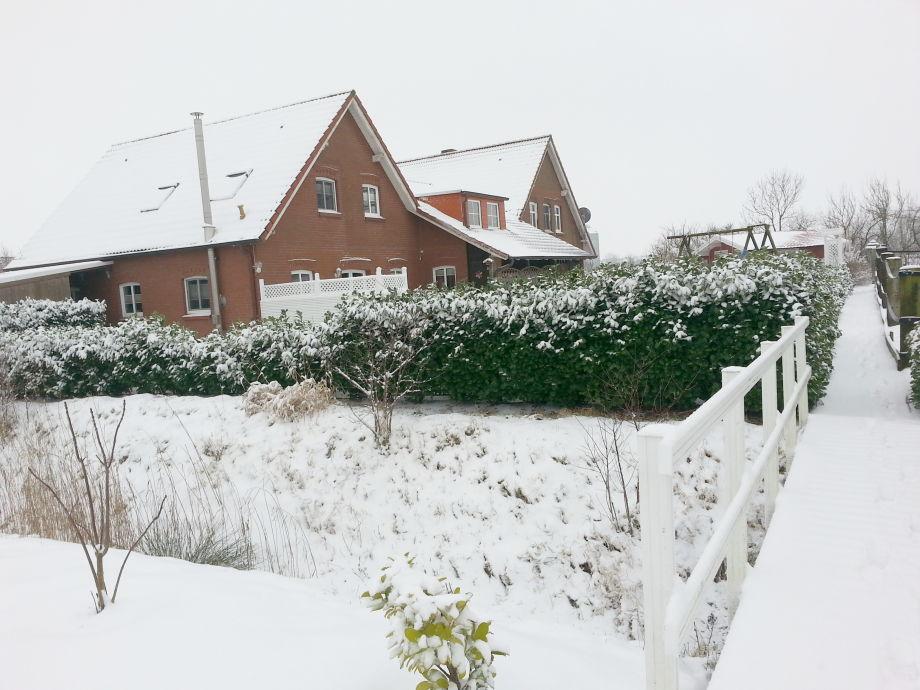 Ferienhaus Roß im Winter