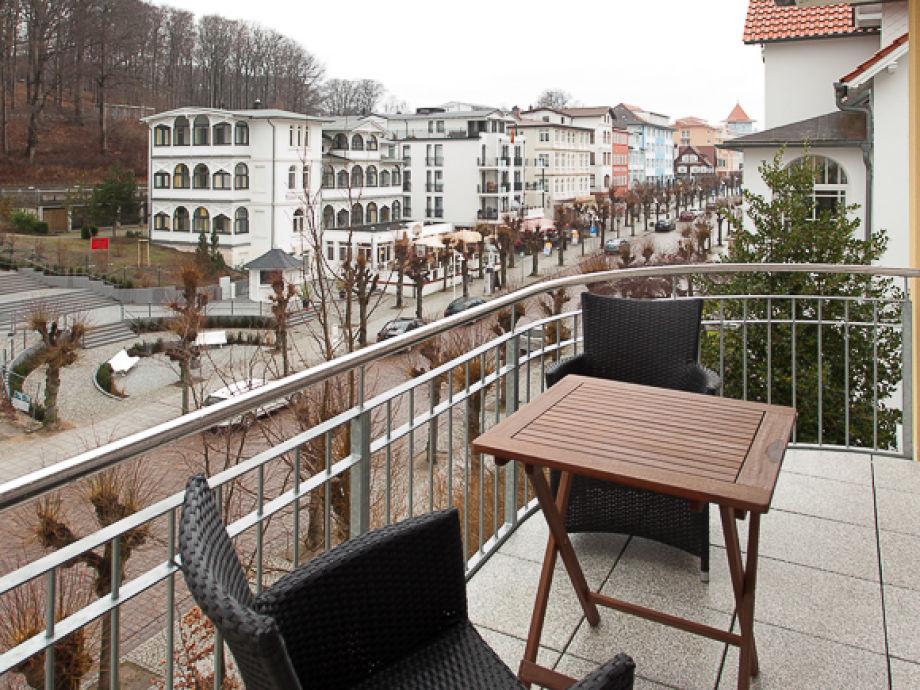 Blick vom Balkon auf die Wilhelmstraße