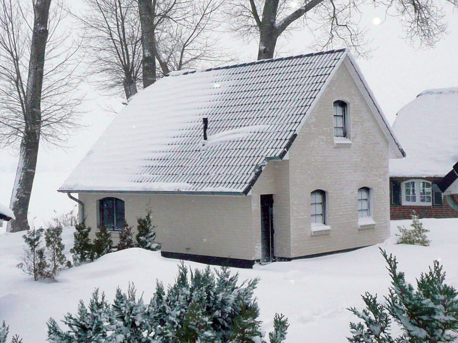 Ferienhuis im Winter