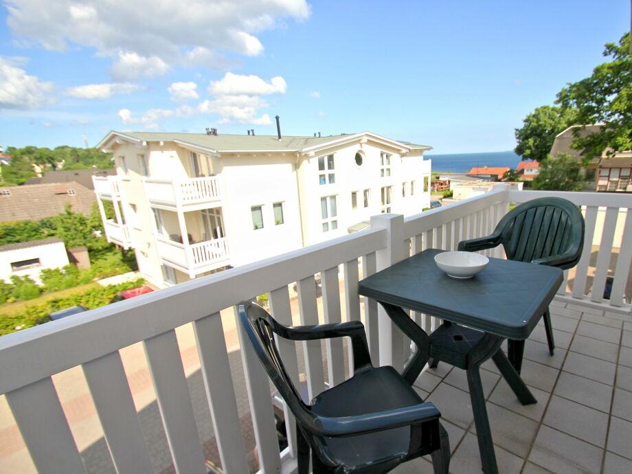 Der Balkonb der Ferienwohnung