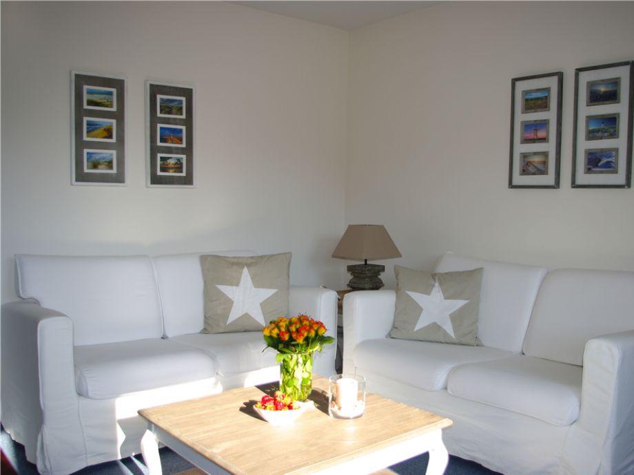 gemütlicher Wohnbereich der Wohnung 2 des Rantumer Süderhüs im Raanwai 79 a, in Rantum