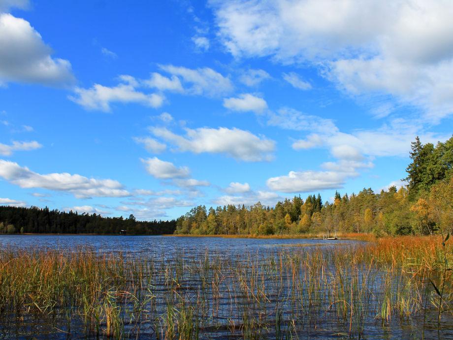 Der See nur 400m vom Haus