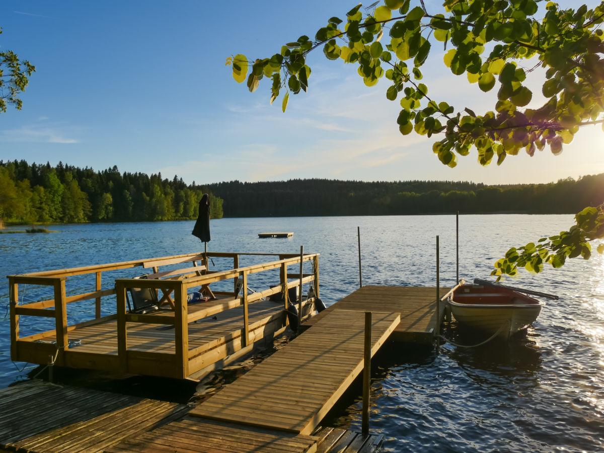 typisch schwedisches ferienhaus auf dem lande schweden s dschweden sm land j nk ping tran s. Black Bedroom Furniture Sets. Home Design Ideas