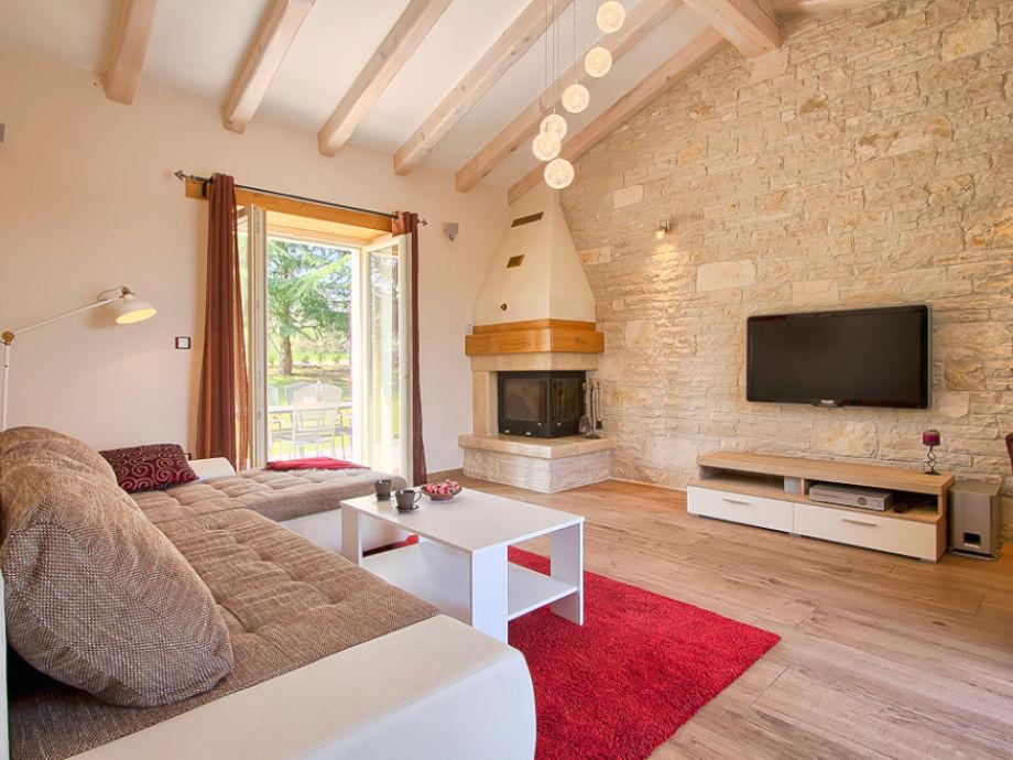 Tolles Wohnzimmer mit großer Couch
