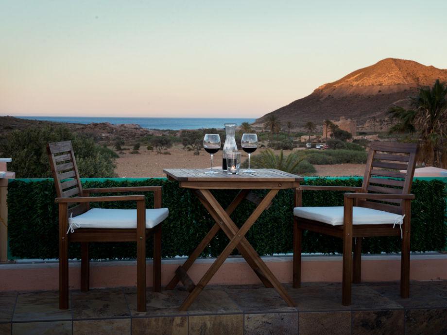 "Terrasse it Blick aufs Meer und die Bucht ""EL Playazo"""
