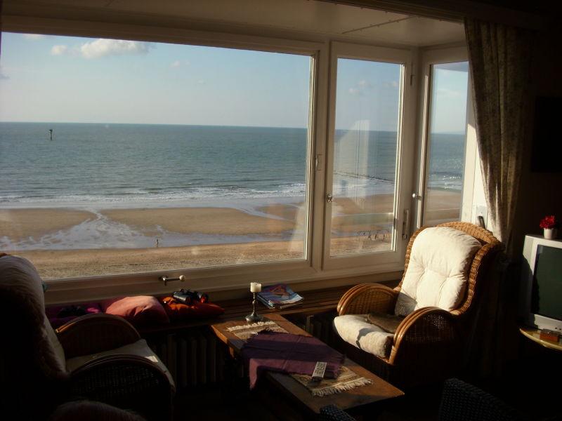 Ferienwohnung Knokke direkt am Strand mit Meerblick