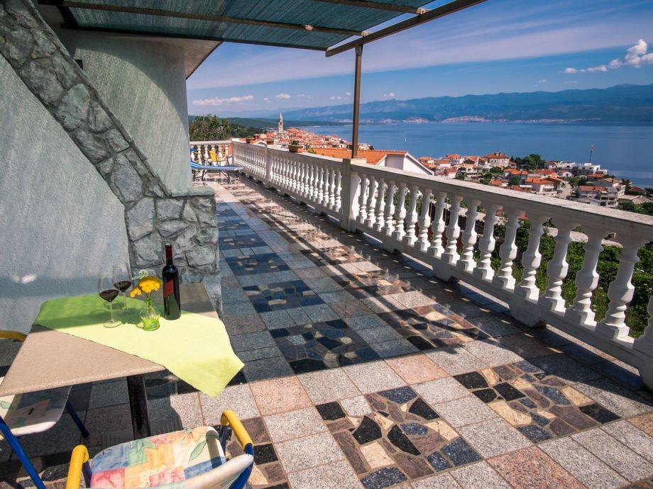 wunderschöne Terrasse mit Panorama - Meerblick