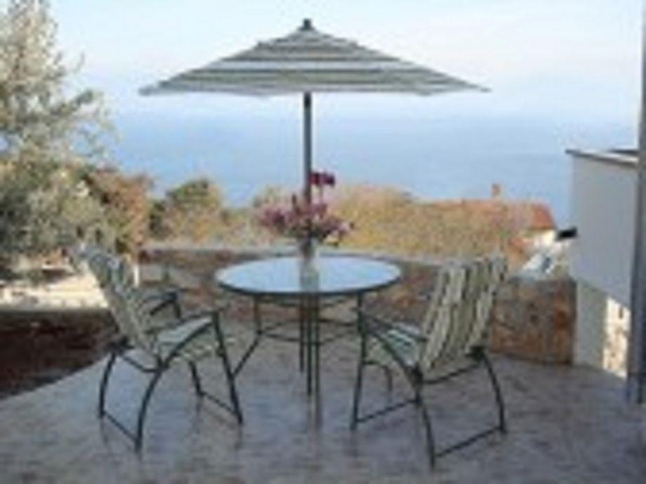 tolle Terrasse mit Meerblick