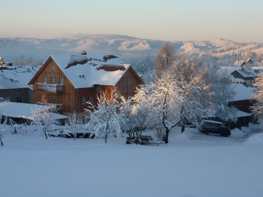 Winterpanorama Ferienhaus