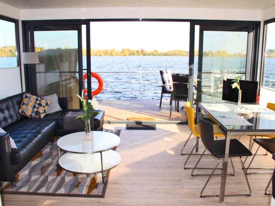 hausboot floating 44 bei xanten xanten firma r ckenwind ferien frau elke bachmann. Black Bedroom Furniture Sets. Home Design Ideas