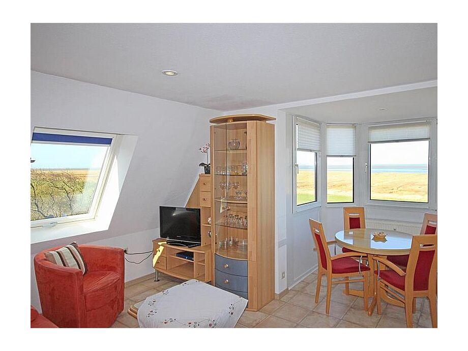 Wohnzimmer mit Nordseeblick