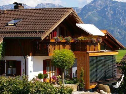 Aggenstein Haus Bergblick