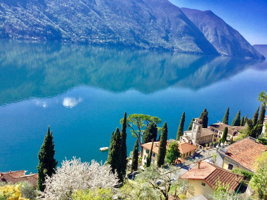 Blick vom Balkon Richtung Lugano