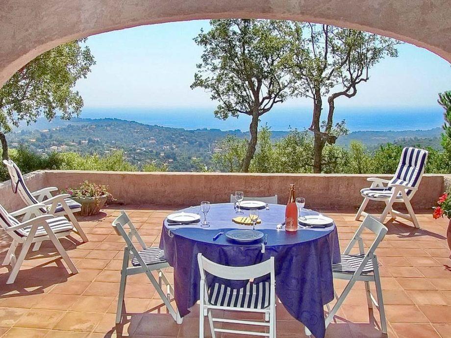 Meerblick von der Terrasse des Ferienhauses
