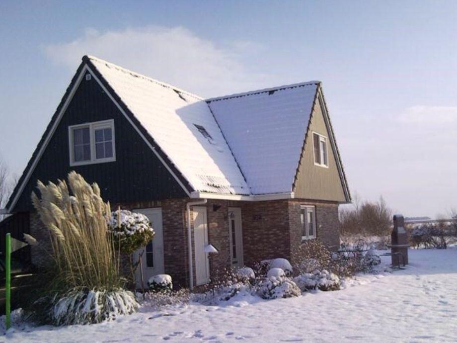 Beachvilla im Winterkleid