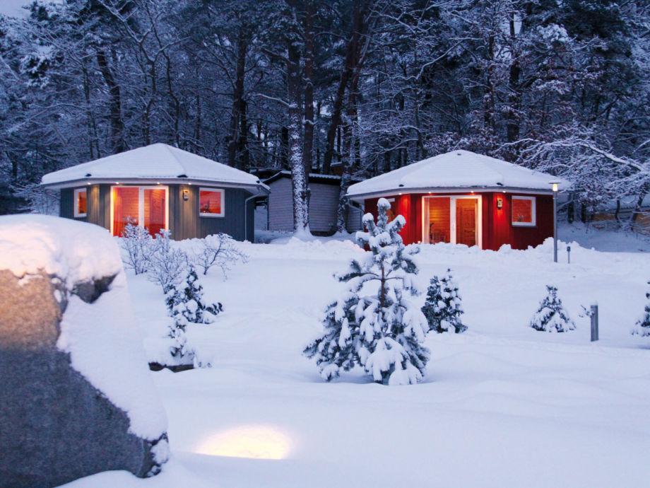Die Tipi Ferienhäuser im Winter