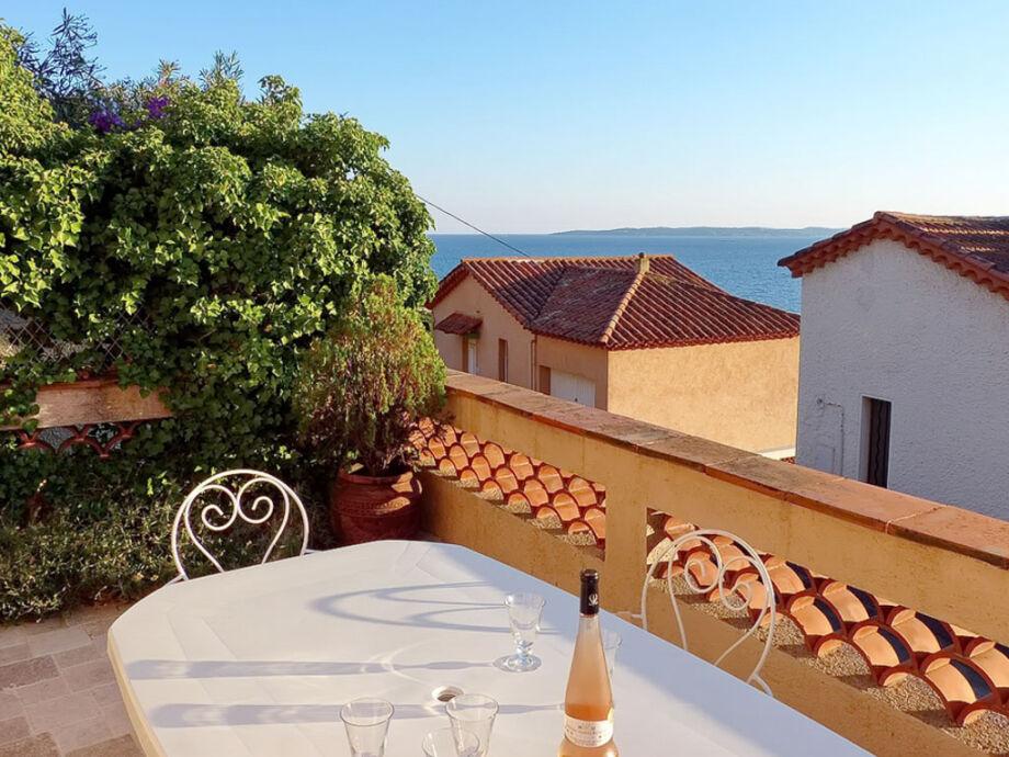 Terrasse mit Meerblick/ Ferienwohnung in Les Issambres