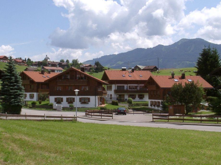 Das Ferienhaus Am Goldbach mit Fewo Bergblick