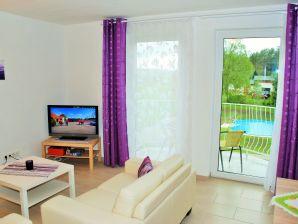Ferienwohnung Fewo Poolblick mit Balkon