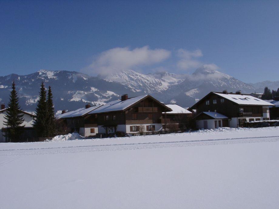 Haus Am Achweg im Winter Ferienwohnung Dornburg