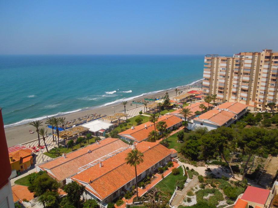 Ausblick auf den Strand von Torrox-Costa!