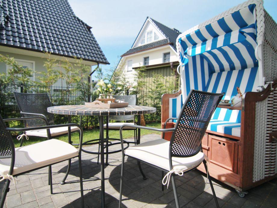 Terrasse in der Ferienwohnung Buddelschiff.