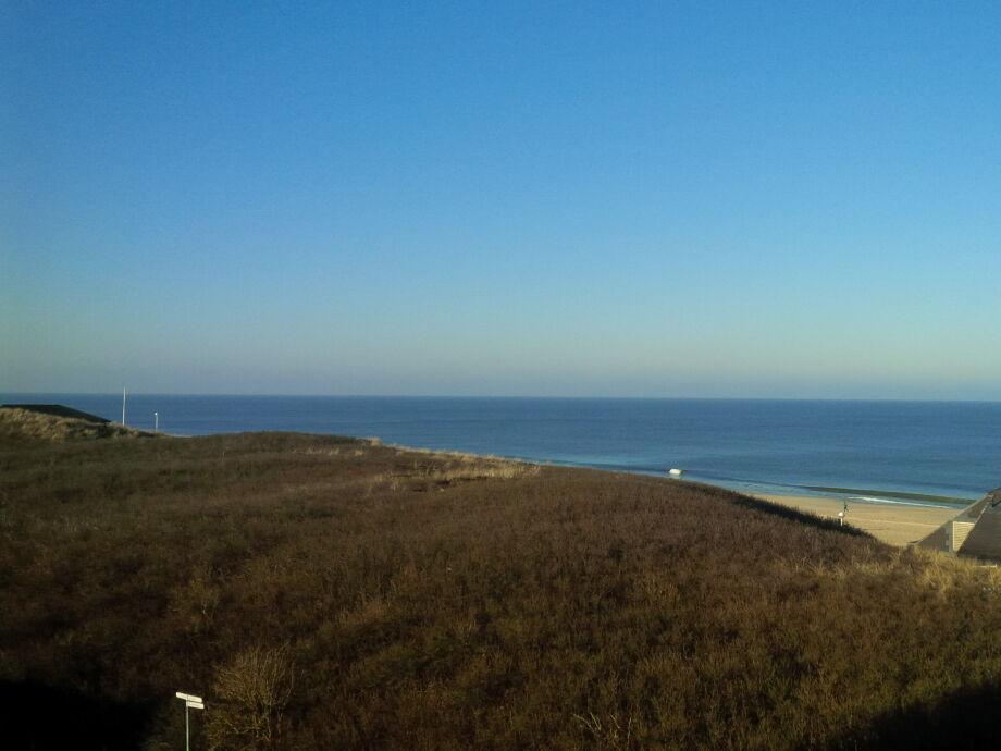Vom Balkon Düne und Meer im Blick