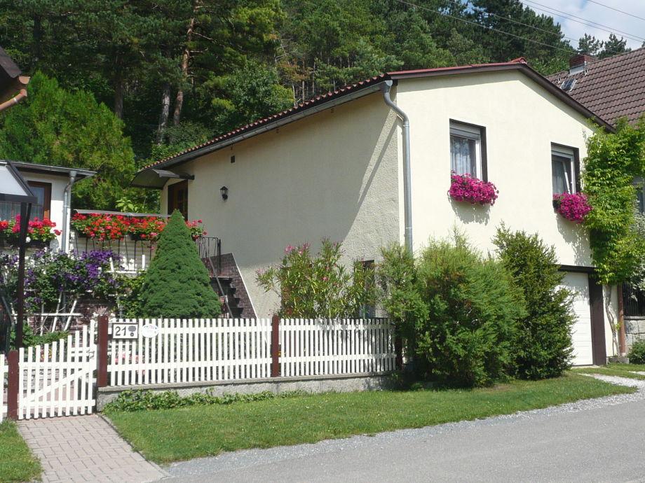 Blick zum Ferienhaus