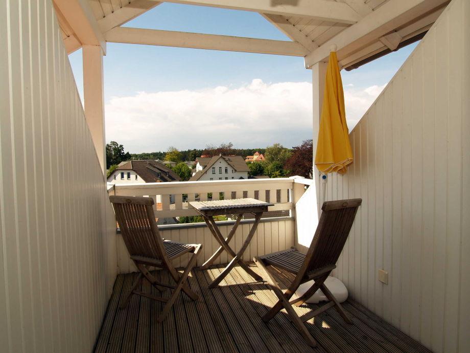 Der Balkon vom Schlafzimmer