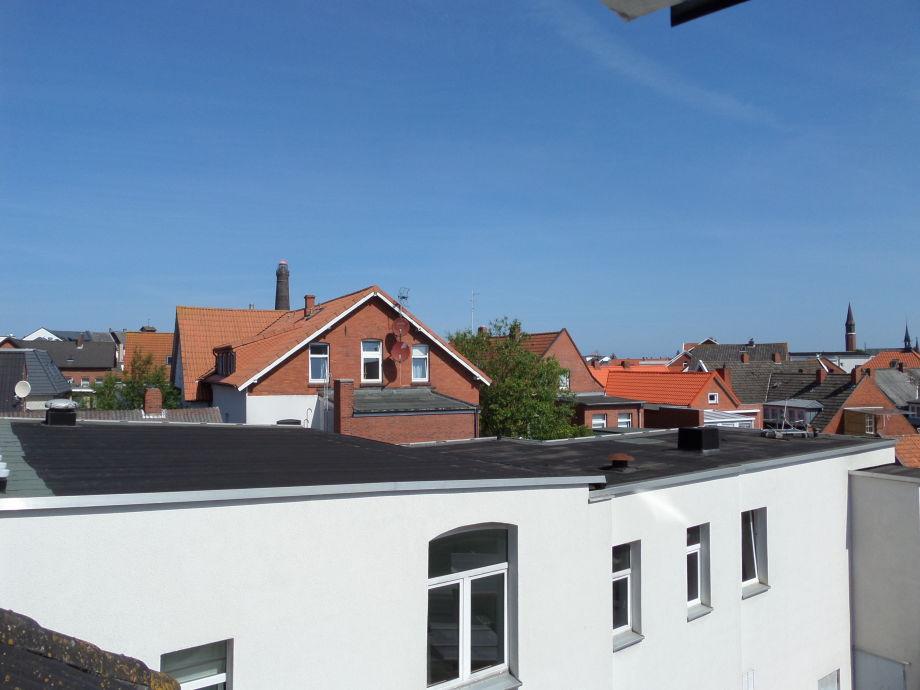 Der Blick über Borkum vom Schlafzimmerfenster