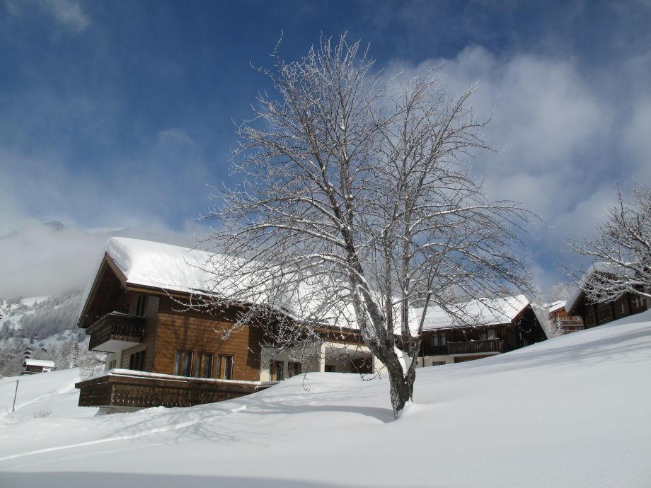 Haus Schluecht im Winter