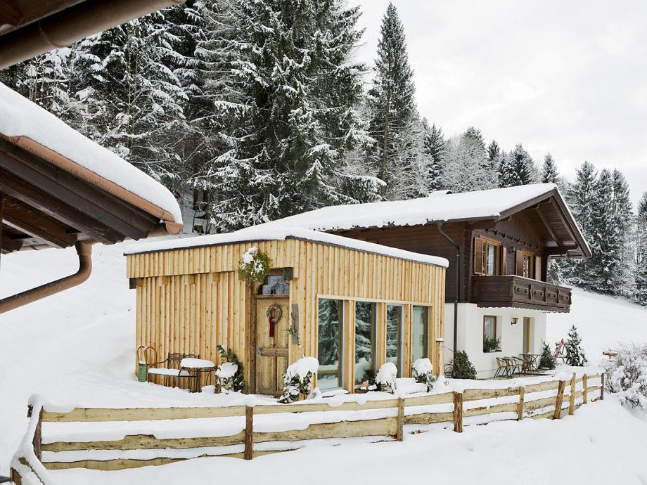 Ferienhaus Gerhart mit Saunahaus im Garten