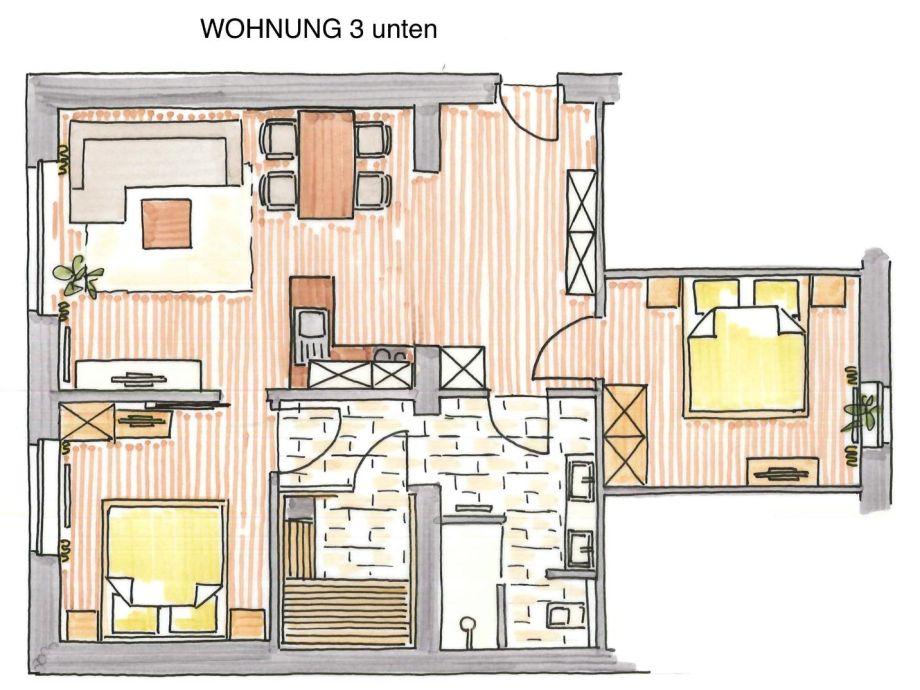 """Ferienwohnung Altstadt Haus am Meer Wohnung 3 """"Memmert"""