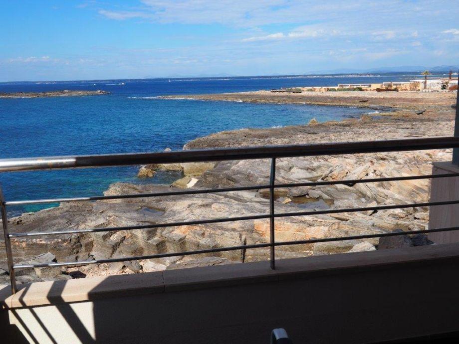 Herrlicher Blick vom Balkon