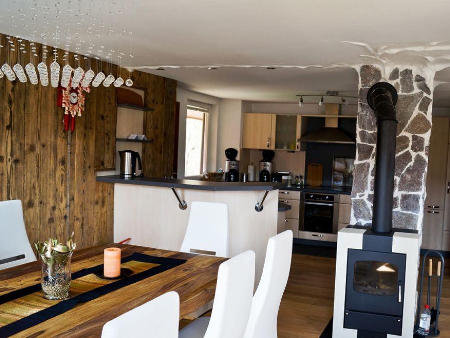 Esszimmer Küche Kaminofen