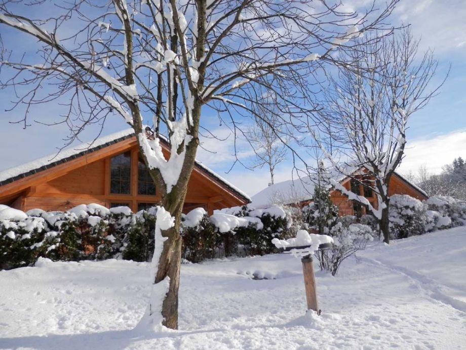 Bayern-Chalets im Winter