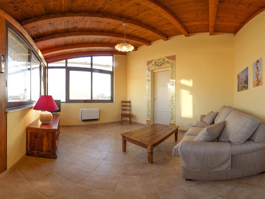 Living room Casa Enza in Santa Flavia