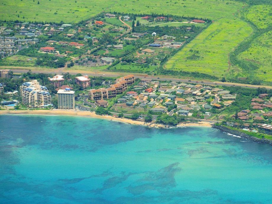 Luftbild von den Kahana Villas