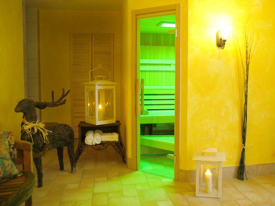 Dampf-Sauna und gratis finnische Sauna