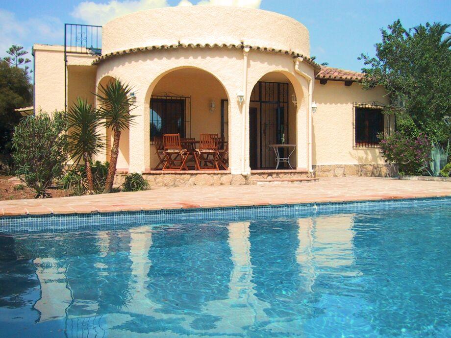 Villa MIMOSA in Moraira, Südseite