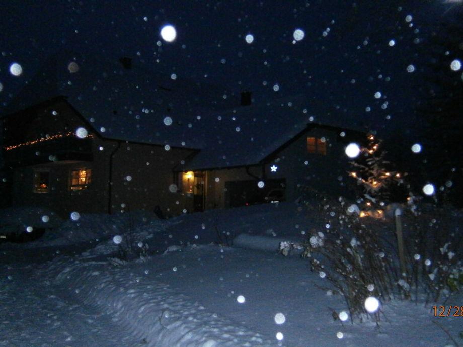 Abendstimmung mit Schnee