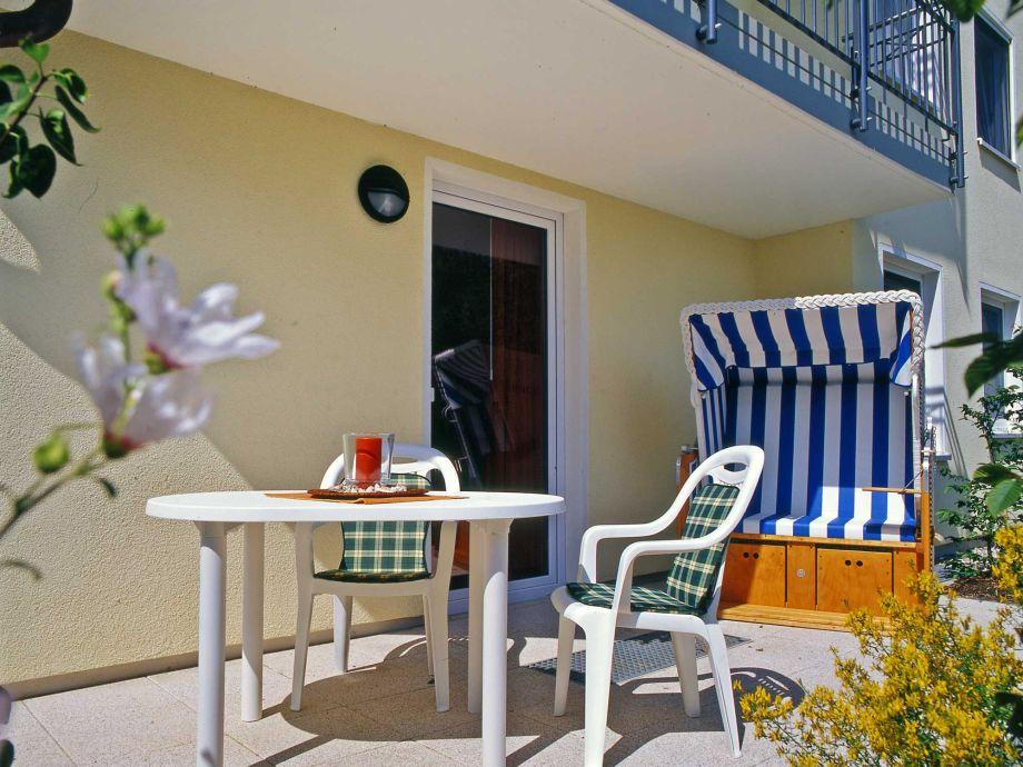 Erschnuppern Sie die Meeresbrise auf Ihrer Terrasse im eigenem Strandkorb und lassen Sie den Stress einfach zuhause zurück.