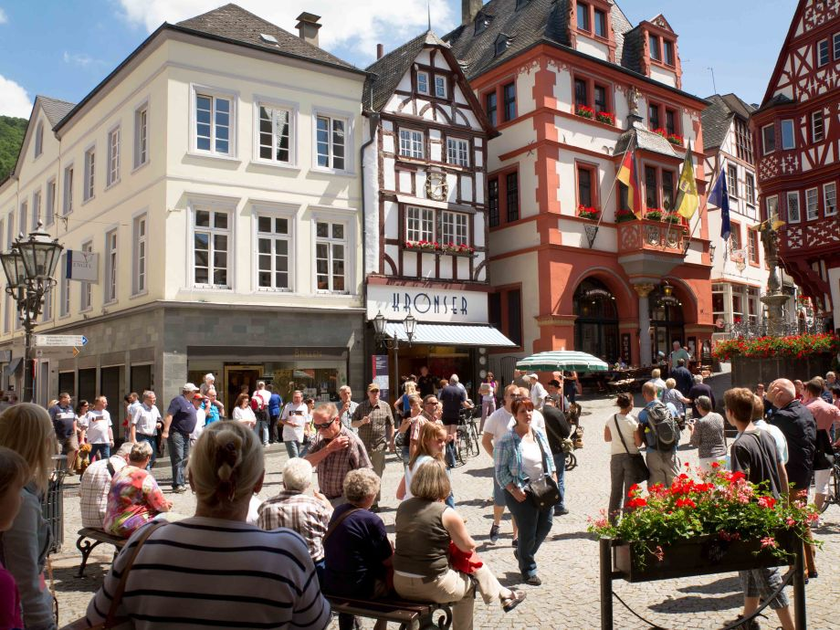 Medieval market place (holiday home left)