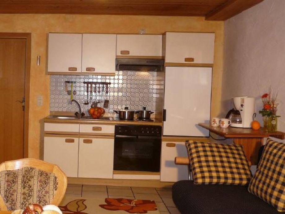 Die gut ausgestattete Küchenzeile