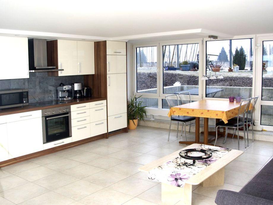 Wohnungsansicht, Wohn-, Ess- Küchenbereich
