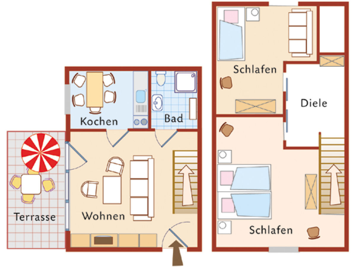 ferienhaus am bodden boddenidyll ostsee fischland dar zingst born am dar frau karin wolff. Black Bedroom Furniture Sets. Home Design Ideas